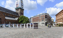 Riga, latvia, Europa, o quadrado da catedral Fotografia de Stock