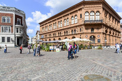 Riga, latvia, Europa, o quadrado da catedral Foto de Stock