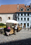 Riga, latvia, europe, small market of the old town Royalty Free Stock Photos