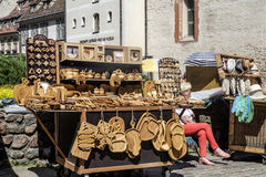 Riga, latvia, europe, small market of the old town Royalty Free Stock Image