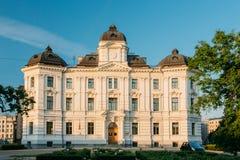 Riga, Latvia. Facade Of Building Of Riga Regional Court In Boulevard Stock Photography
