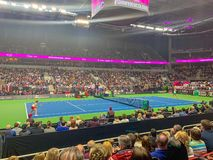 FEDCUP BNP Paribas, The World Cup of Tennis World Group II First Round game stock photo