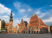 Riga, Latvia. House of the Blackheads (Riga, Latvia Royalty Free Stock Photo
