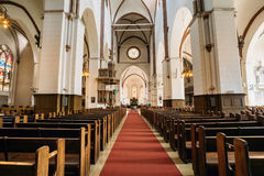 Riga, Latvia. Interior Of The Riga Dom Dome Cathedral. Church stock photo