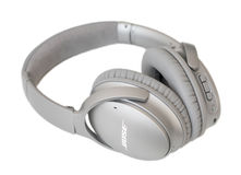 RIGA, LATVIA - January 10, 2017: Bose QuietComfort 35 wireless headphones. Stock Image
