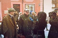 RIGA, LATVIA - January 4: Interview the characters of books Cona Stock Photos