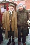 RIGA, LATVIA - January 4: Photo Hero of books Conan Doyle's birt Stock Images