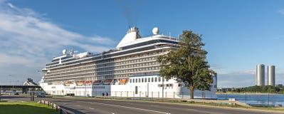 RIGA, LATVIA - JULY 17, 2016: Cruise passenger ship Stock Photo