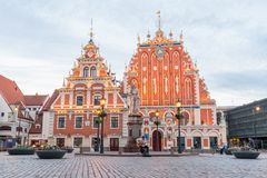 House of the Blackheads, one of the famous tourist attraction royalty free stock photography