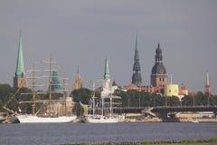 RIGA, LATVIA - JULY 26: Regatta The Tall Ships Races 2013 Royalty Free Stock Photo