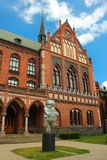 Venus of Willendorf in Riga, Latvia. RIGA, LATVIA - JULY 10, 2017: Venus of Willendorf by Brigita Zelca in front of The Art Academy of Latvia. Modern replica of Stock Images