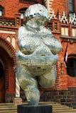 Venus of Willendorf in Riga, Latvia. RIGA, LATVIA - JULY 10, 2017: Venus of Willendorf by Brigita Zelca in front of The Art Academy of Latvia. Modern replica of Stock Image