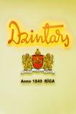 RIGA LATVIA-JUNE 12, 2017: Logoen för företags` s Arkivfoton