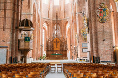 Riga Latvia. Nave Of St. Peter's Church. Central Part Of Interior Royalty Free Stock Images
