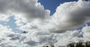 RIGA LATVIA - OCTOBER 8: Airbaltic plane landing in airport in Riga, October 8, 2016 in Riga. 4k stock video