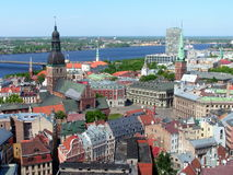 Riga, Latvia old town. A classic view of the city in Riga, Latvia stock images