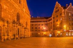 Riga, Latvia: Old Town at night stock images