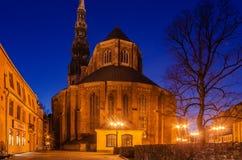 Riga, Latvia: Old Town at night stock photography