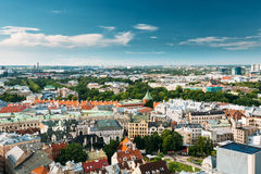 Riga, Latvia Paisaje urbano en Sunny Summer Day Señal famosa - P fotografía de archivo libre de regalías