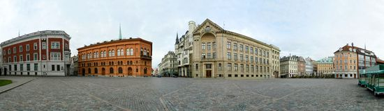 Riga, Latvia's capital, old  city panoramic view. Royalty Free Stock Images