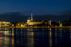 View of the embankment of the river Daugava and the old town in Stock Images