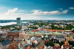 Riga, Latvia. Summer Riga Cityscape. Famous Landmark - St. James Stock Image