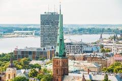 Riga, Latvia. Summer Riga Cityscape. Famous Landmark - St. James Royalty Free Stock Photo