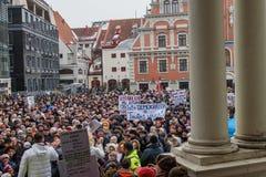 09.02.2019. RIGA, LATVIA. `Support` meeting, expressing support for Nils Usakovs, Mayor of Riga city council