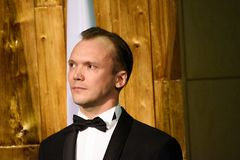 Arturs Kruzkops, the host of the event and actor royalty free stock photo