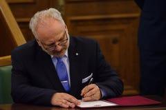 Egils Levits, Newly elected President of Latvia, Solemn oath. RIGA, LATVIA. 8th of July 2019. Egils Levits, Newly elected President of Latvia, Solemn oath and royalty free stock photography