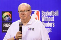 Patrick Hunt,  World Association of Basketball Coaches WABC President and Director of Basketball Without Borders BWB stock image