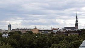 Riga Latvija, den gamla staden Arkivfoto