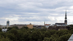 Riga, Latvija, la ciudad vieja Foto de archivo