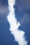 RIGA, LETÓNIA - 20 DE AGOSTO: Pilote de EUA Jeff Boerboon no acréscimo Fotos de Stock Royalty Free