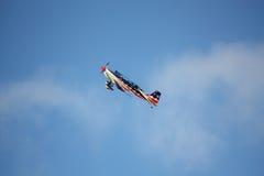RIGA, LETÓNIA - 20 DE AGOSTO: Pilote de EUA Jeff Boerboon no acréscimo Imagem de Stock Royalty Free
