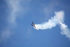 RIGA, LETÓNIA - 20 DE AGOSTO: Pilote de EUA Jeff Boerboon no acréscimo Fotografia de Stock