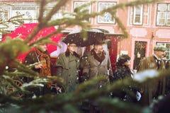 RIGA, LETÓNIA - 4 de janeiro: photoshoot com os heróis dos livros Conan Imagem de Stock