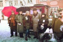 RIGA, LETÓNIA - 4 de janeiro: photoshoot com os heróis dos livros Conan Foto de Stock