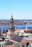 Riga, Letónia, o 27 de março de 2018 A catedral da abóbada Foto de Stock