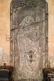 Riga, Letland Doorsidesteen van het Meeëtershuis met Hulp Royalty-vrije Stock Afbeeldingen