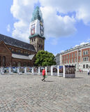 Riga, Letland, Europa, het kathedraalvierkant Stock Foto's