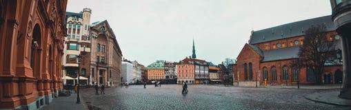 riga letland In het centrum van de oude stad stock foto's