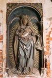 Riga, Letland Het Kasteel van de Hulp van Riga met het Beeld van Virgin Royalty-vrije Stock Afbeelding