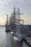 Riga, Letland, Koninklijke Regatta van de grote zeilboten Royalty-vrije Stock Foto's