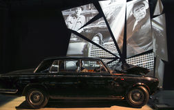 RIGA, LETLAND - OKTOBER 16: Retro de Motormuseum van autoriga, 16 Oktober, 2016 in Riga, Letland Stock Afbeelding