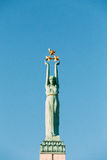 Riga, Letland Sluit omhoog Detail van Beroemd Oriëntatiepunt - Herdenkingsvrijheid royalty-vrije stock afbeelding