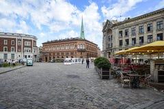 Riga, Letonia, Europa, el cuadrado de la catedral Foto de archivo