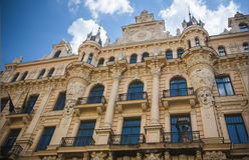 Riga, Lettland Stockfoto