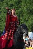 RIGA, LETTLAND - 21. AUGUST: Camilla Naprous von den Teufeln Horsem Stockfoto