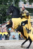 RIGA, LETTLAND - 21. AUGUST: Dan Naprous-Mitglied des Teufel-Pferds Lizenzfreie Stockbilder